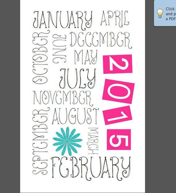 16 Month Calendar Planner; Digital File; 1\/2 sheet size; Workout - workout log sheets