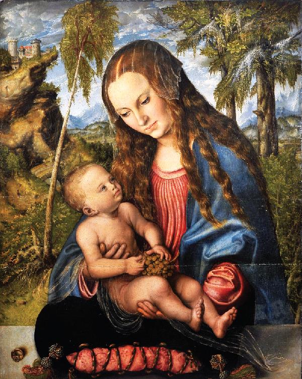Virgin and Child under the fir tree, by Lucas Cranach the Elder. (Archdiocesan Museum, Wrocław).