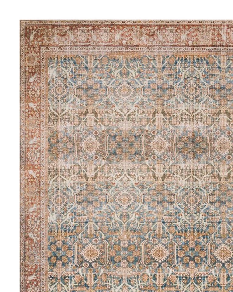 Tunis Patterned Rug Ocean Rust 2 3 In 2020 Rugs Rugs On Carpet Rugs In Living Room