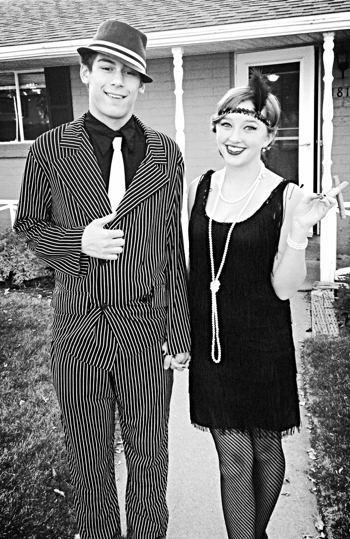 1920's flapper girl and mobster Halloween costumes | 1920s ...