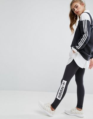 best sneakers 4cd77 3c1a4 adidas Originals Monochrome Trefoil Logo Leggings