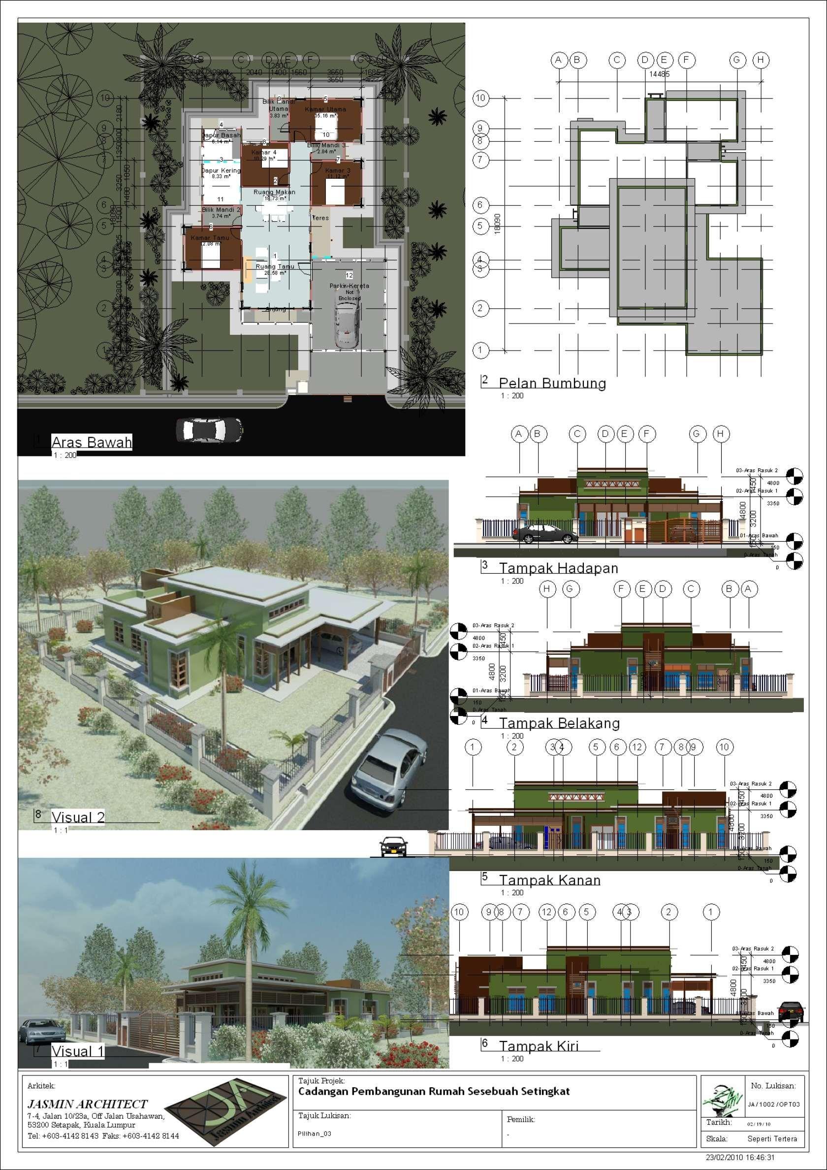 Single storey bungalows at sabak bernam selangor malaysia