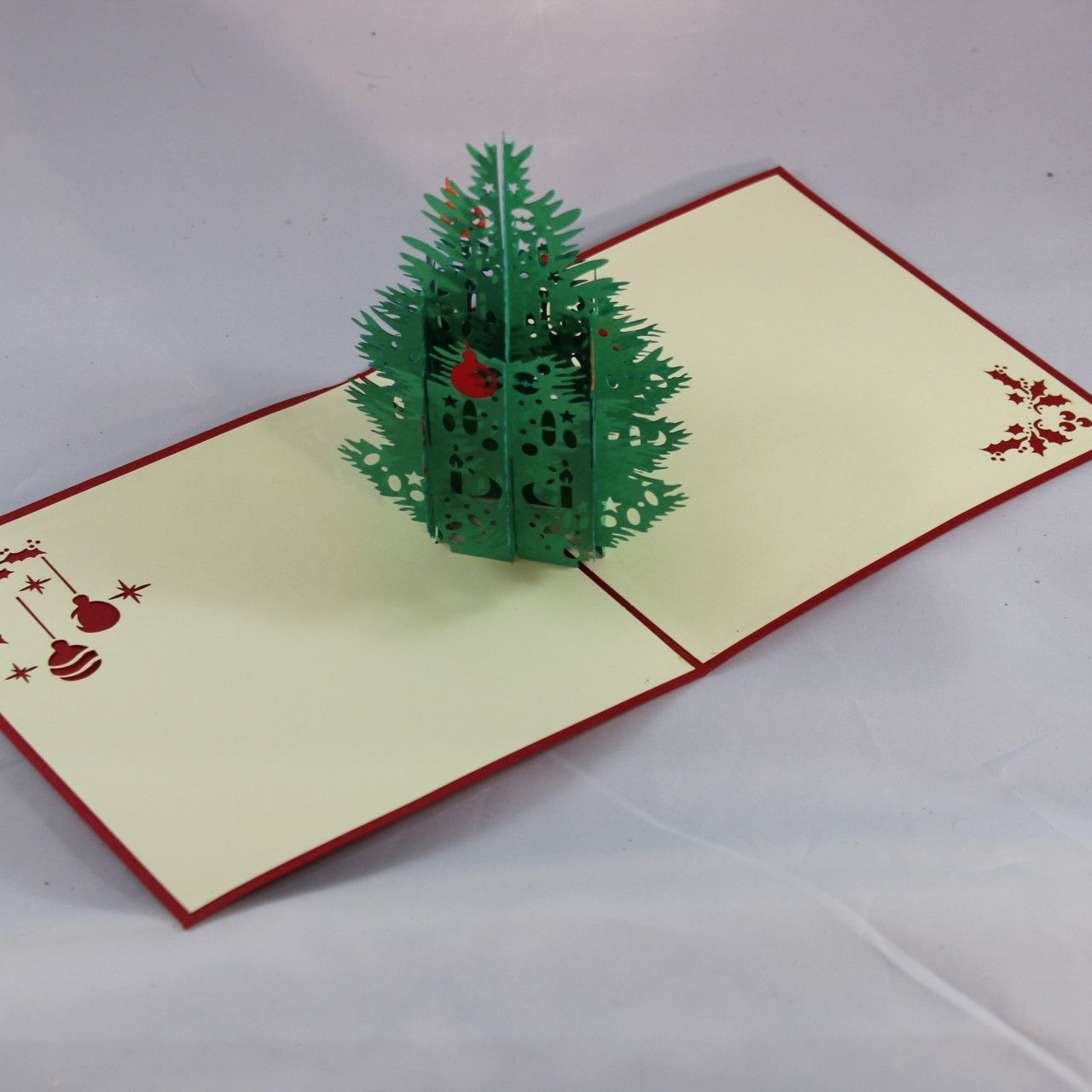 wholesale greeting card, Christmas pop up 3D card, Pine noel card ...