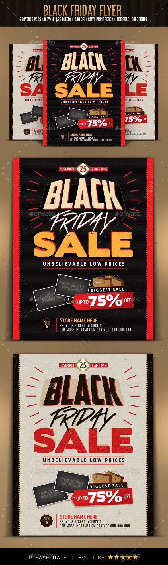 Black Friday Sale Flyer | Sale flyer, Flyer template and Christmas flyer