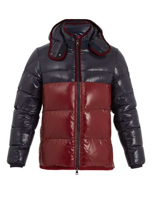 Moncler Harry bi-colour quilted down jacket