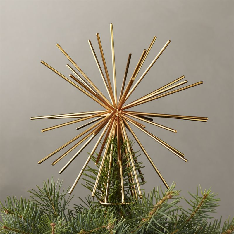 Shop Burst Gold Tree Topper Iron Wire Star Tops The Tree With A