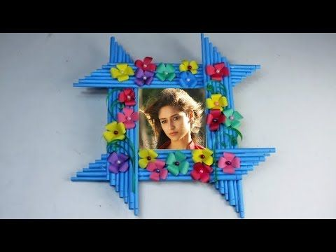 How to make heart shaped Photo frame - Photo frame making with waste ...