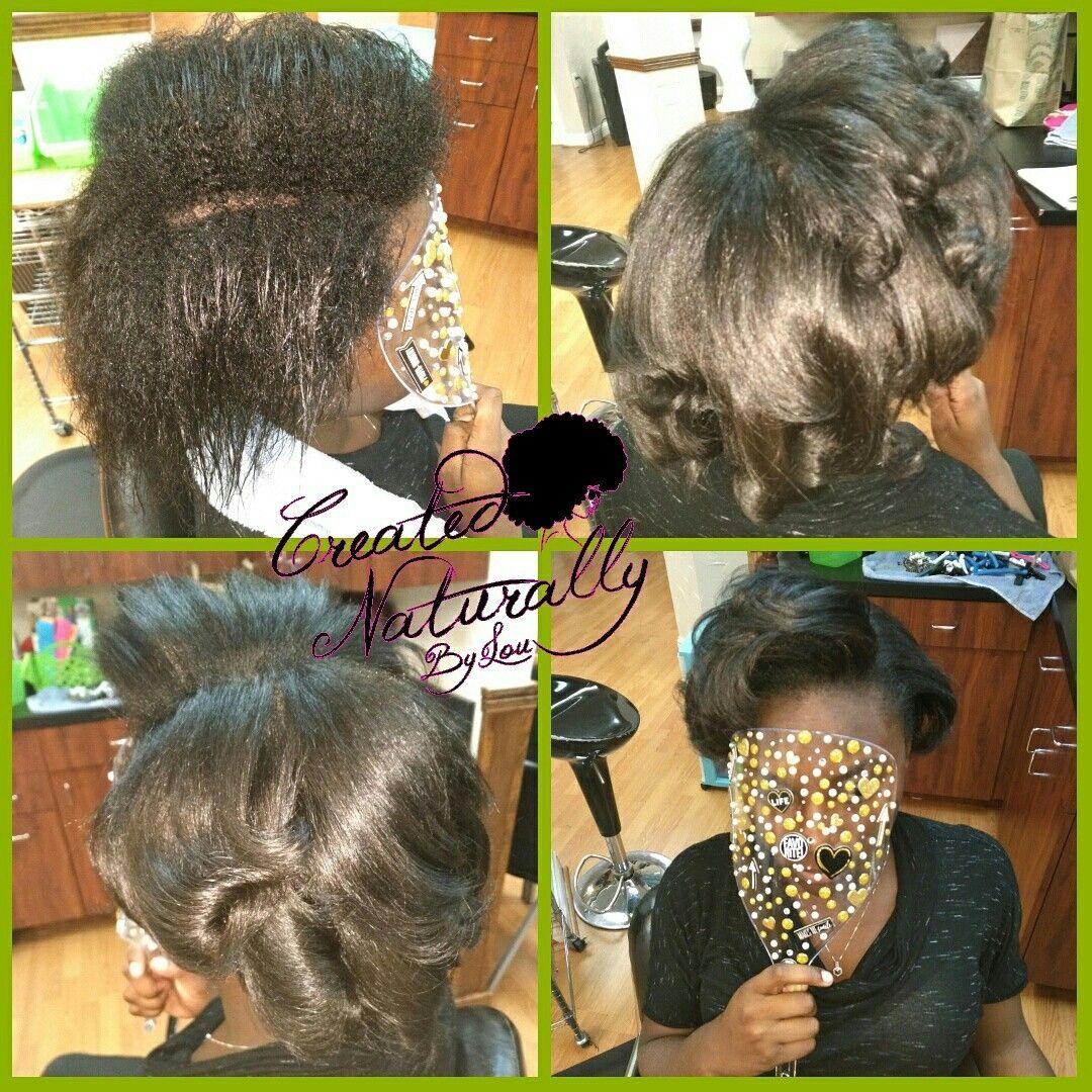 Relaxed, Transitioning hair. Press n Curl, silk wrap, silk press ...