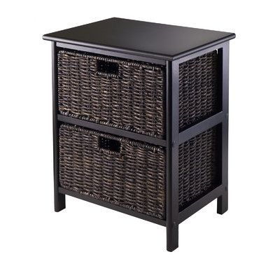 Winsome Omaha 2 Drawers Storage Rack with Foldable