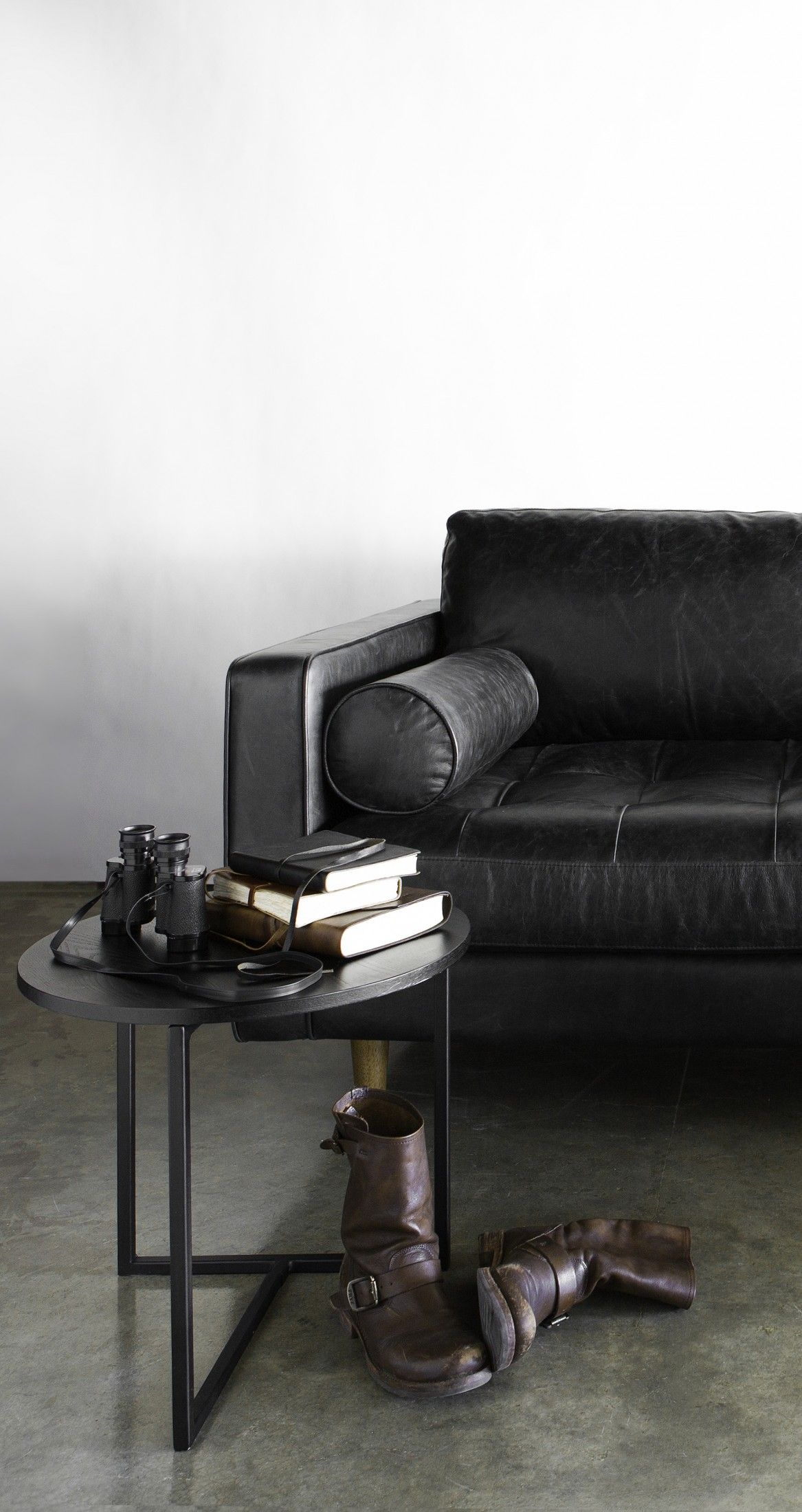 Sven Oxford Black Sofa | Bench seat, Mid century and Tufted bench