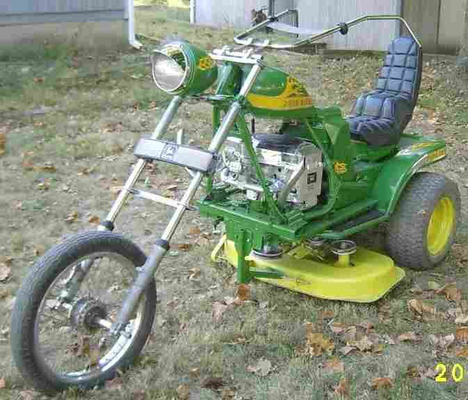 john deere lawn mower bike just because motor cycles. Black Bedroom Furniture Sets. Home Design Ideas