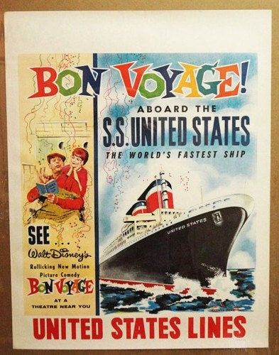 ss united states 1963 bon voyage movie poster from uslines52 ocean