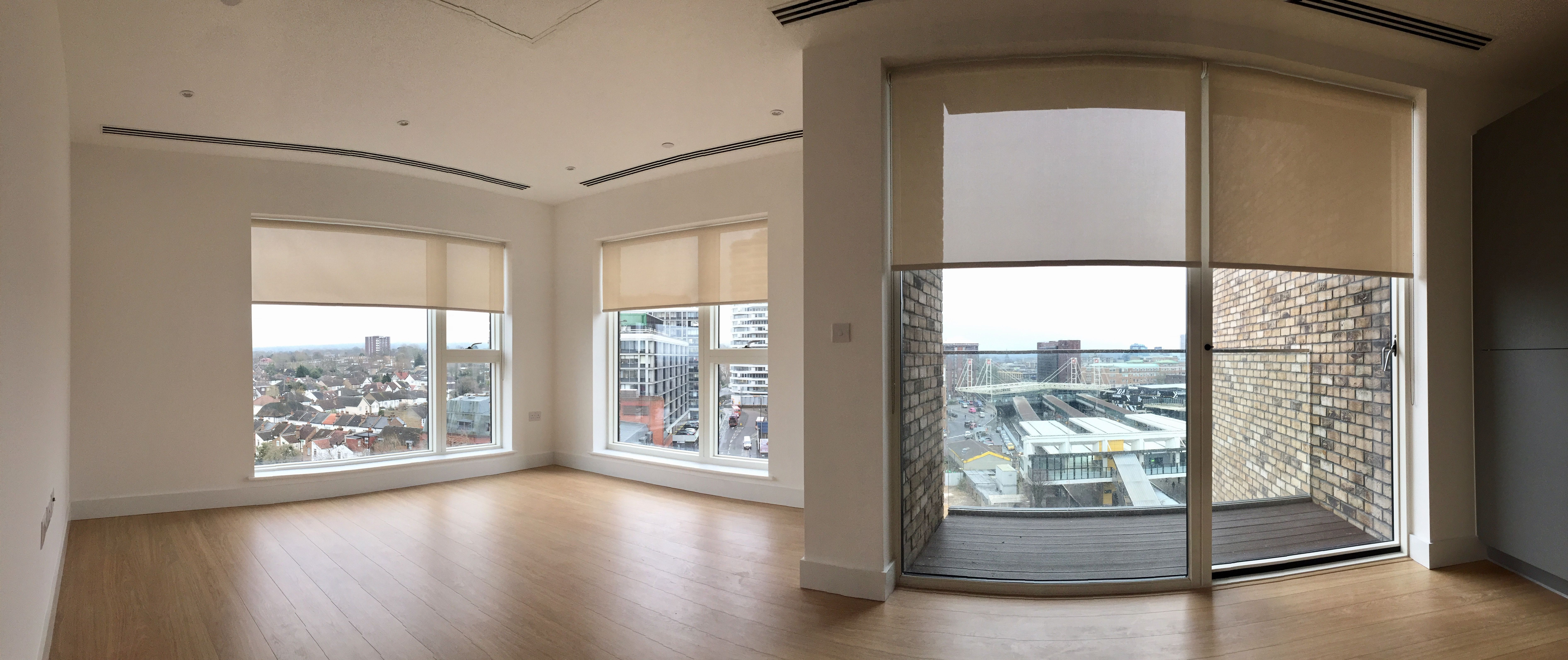 Sunscreen roller blinds installed to new apartment in morello