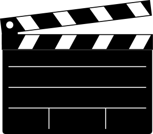 Clapper Board Clip Art Vector Clip Art Online Royalty Free Public Domain Movie Themed Party Cinema Party Hollywood Party Theme
