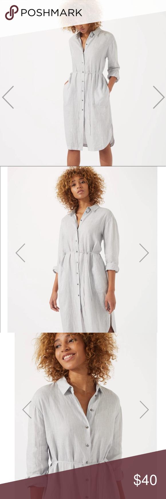 8214606540 Jigsaw Linen Shirt Dress A relaxed shirt dress. Made from 100% linen for a  lightweight