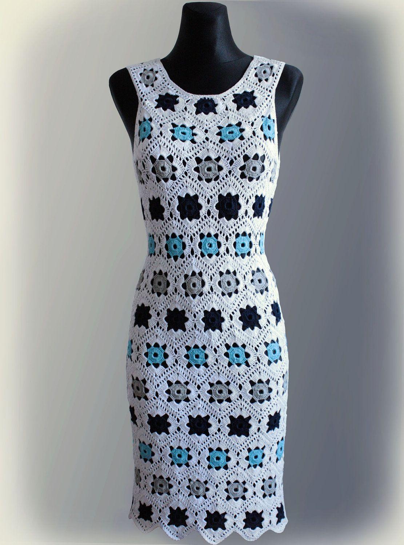 Dress. Crochet Pattern No 229 | Tejido, Hermosa y Ganchillo