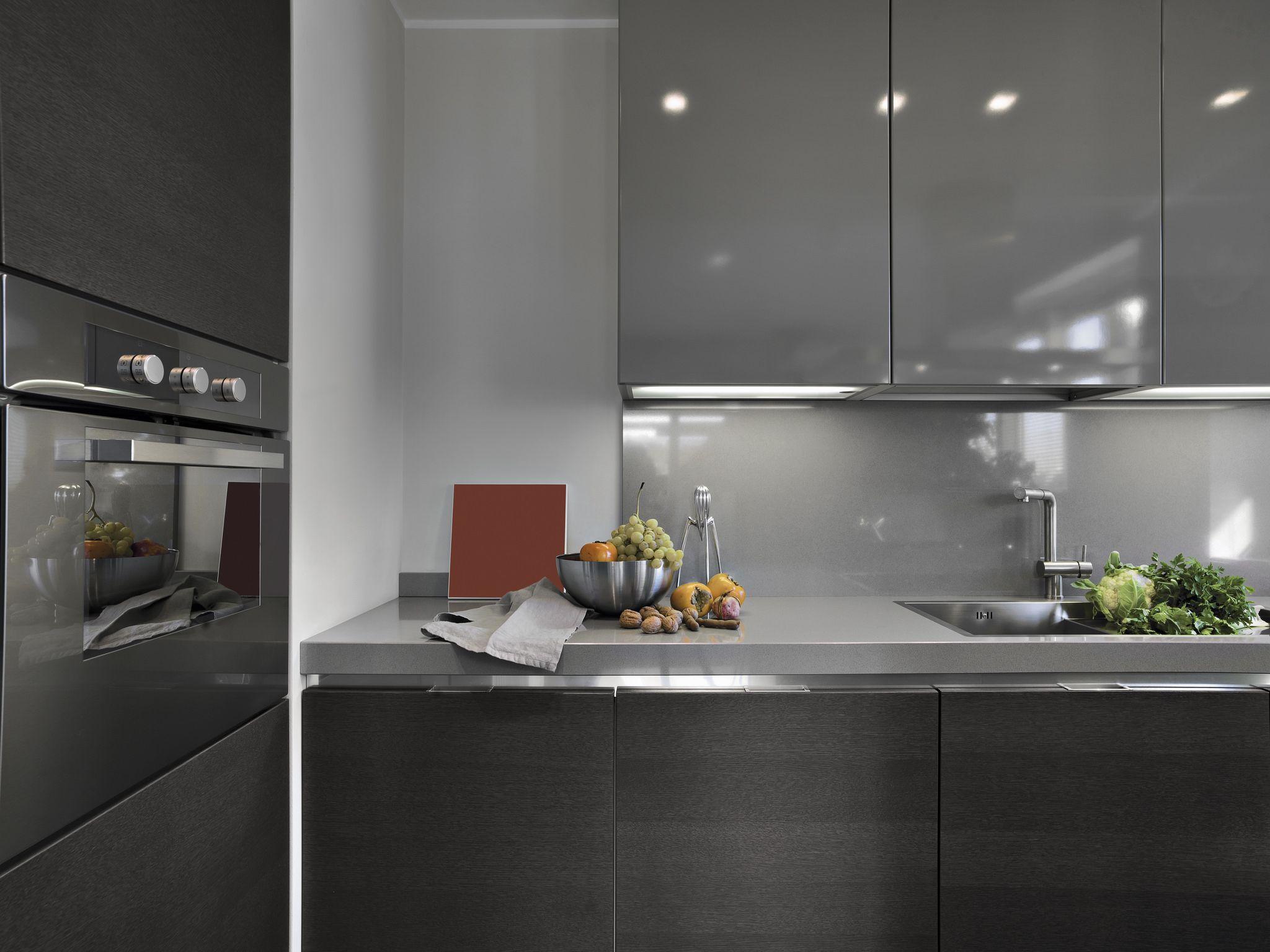 מטבחים מעוצבים עיצוב קלאסי Modern grey kitchen, Latest