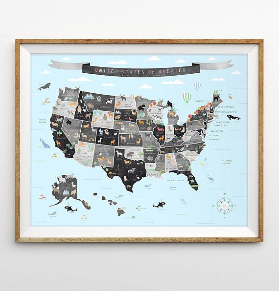 United States Map US Map Chalkboard Map Learning The States - Us map chalkboard