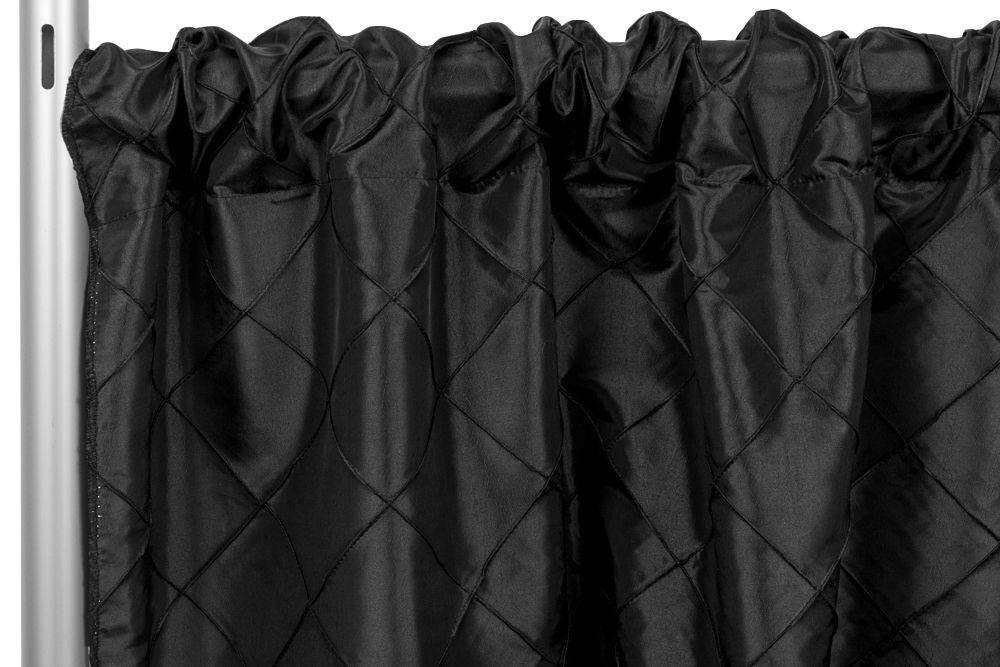 """Pintuck+10ft+H+x+50""""+W+Drape/Backdrop+panel++Black"""