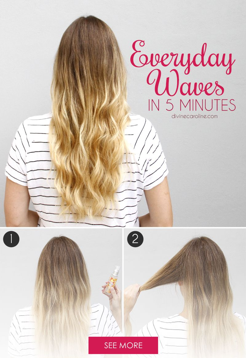 How to get wavy hair in less than minutes beautiful you