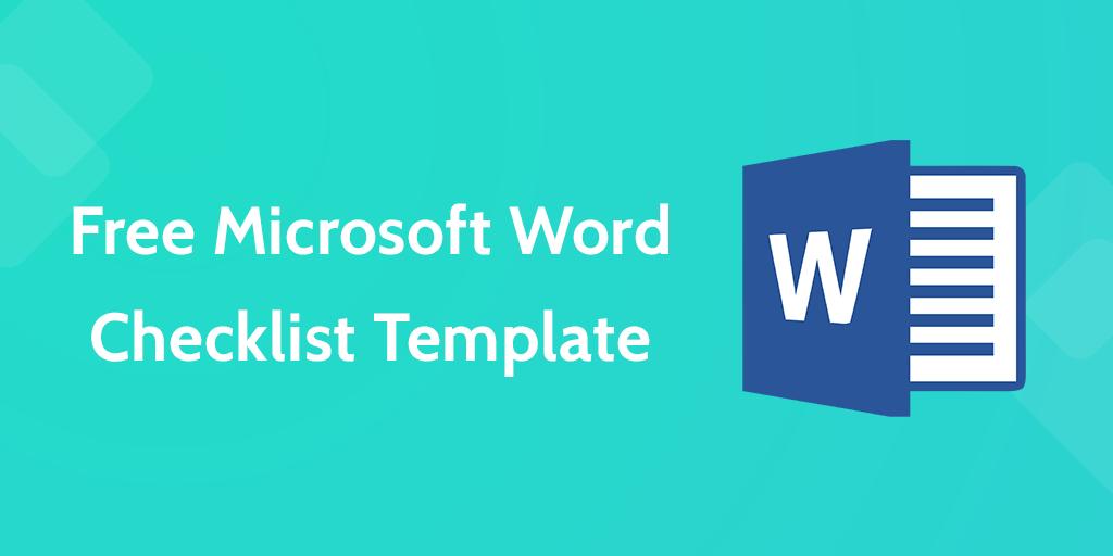 Checklist Template Word | Process Street | Pinterest | Microsoft