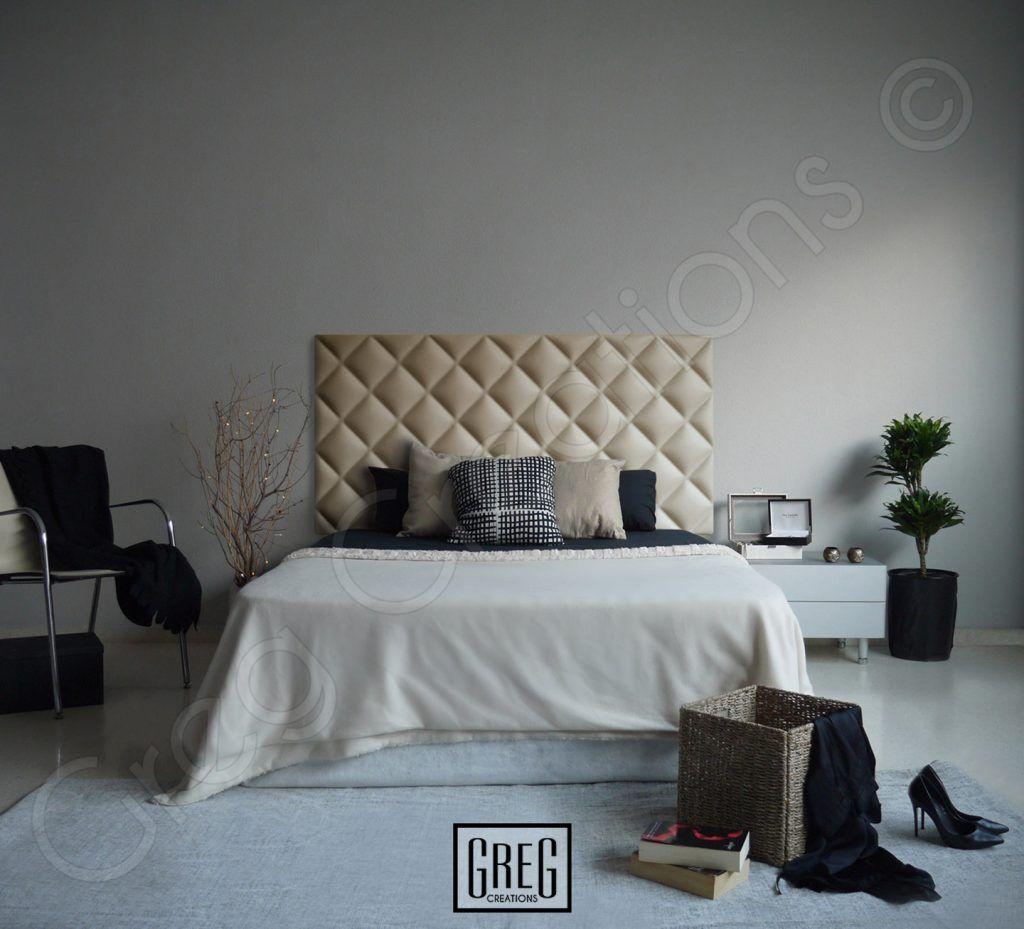 diseño de dormitorio con cabecero tapizado de la serie classic de