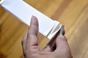 Can you fit your body through a hole in an index card? Learn how!: Step Four