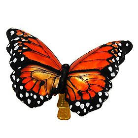 Monarch Butterfly Glass Clip-On Ornament - 1142923 - $19.99 #monarch #butterfly #ornament #Christmas #orange #BronnersChristmasWonderland #Bronners