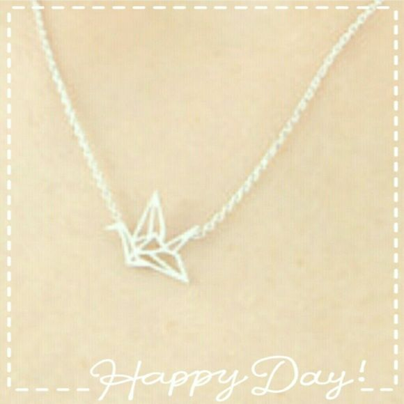 {2 for $10}  Wild Orgami Crane ♡☆¤ Wild Orgami Silvertone Graceful Crane ☆♡¤- simply the cutest & such a down right classic symbol of peace! This listing is for two necklaces =)!  Please ask any questions before purchasing this nwt sale, Thank You. Poshmark Rules Only. Price is Firm unless you bundle 3 or more items to save 10 percent off your total purchase - pff's inquire about custom bundles. goodchic  Jewelry Necklaces