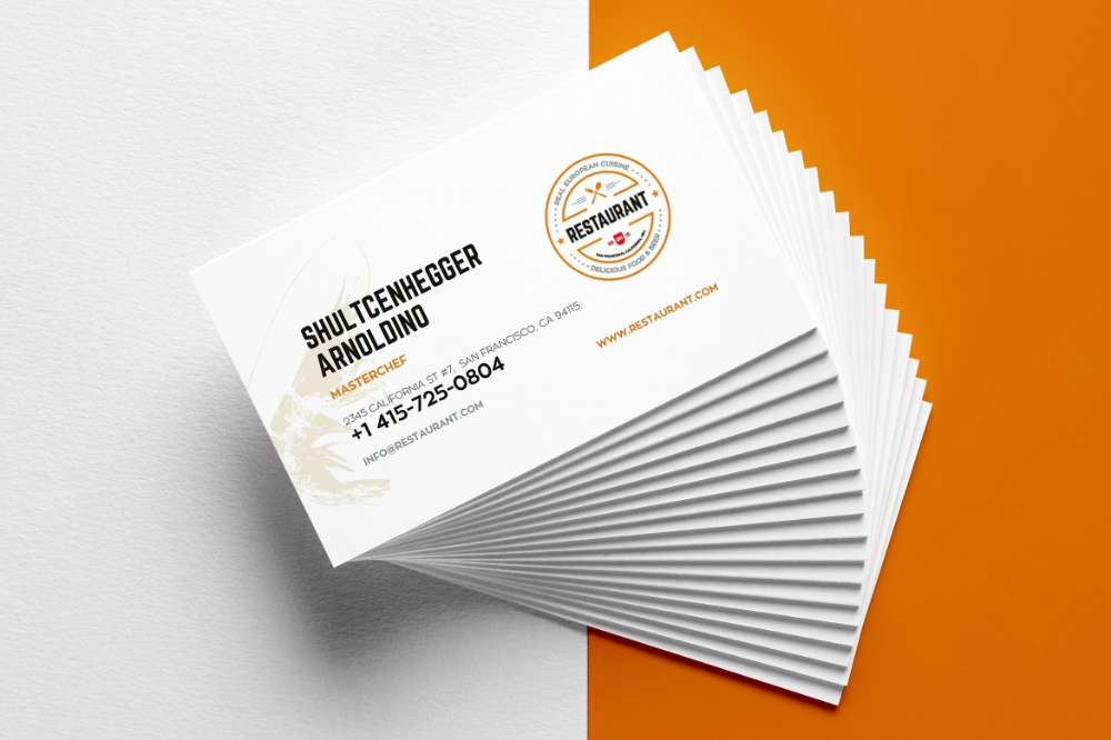 Creative Restaurant Business Card Templates Ai Apple Pages Intended For Buisness Card Templates 10 Professional Templates Ideas 10 Professional Templates
