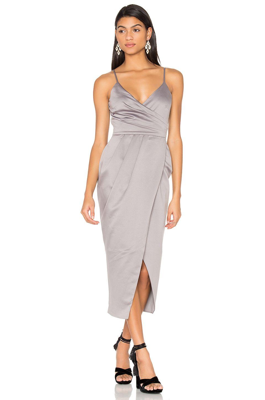 Pink wrap midi dress online shopping