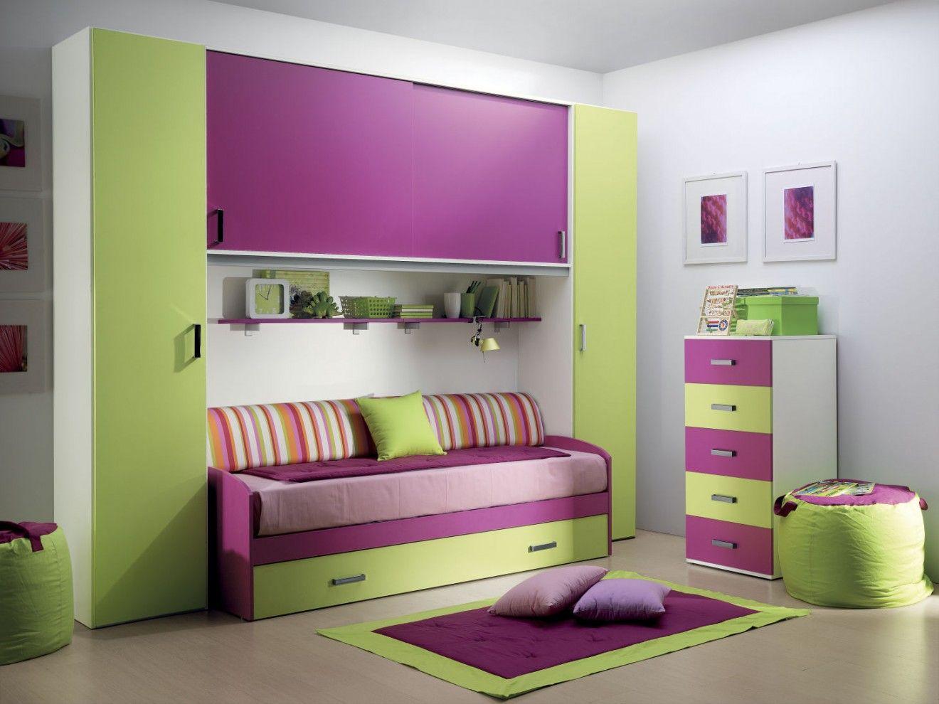 Cameretta rosa ~ Cameretta a ponte rachele furnishing bedroom camerette design