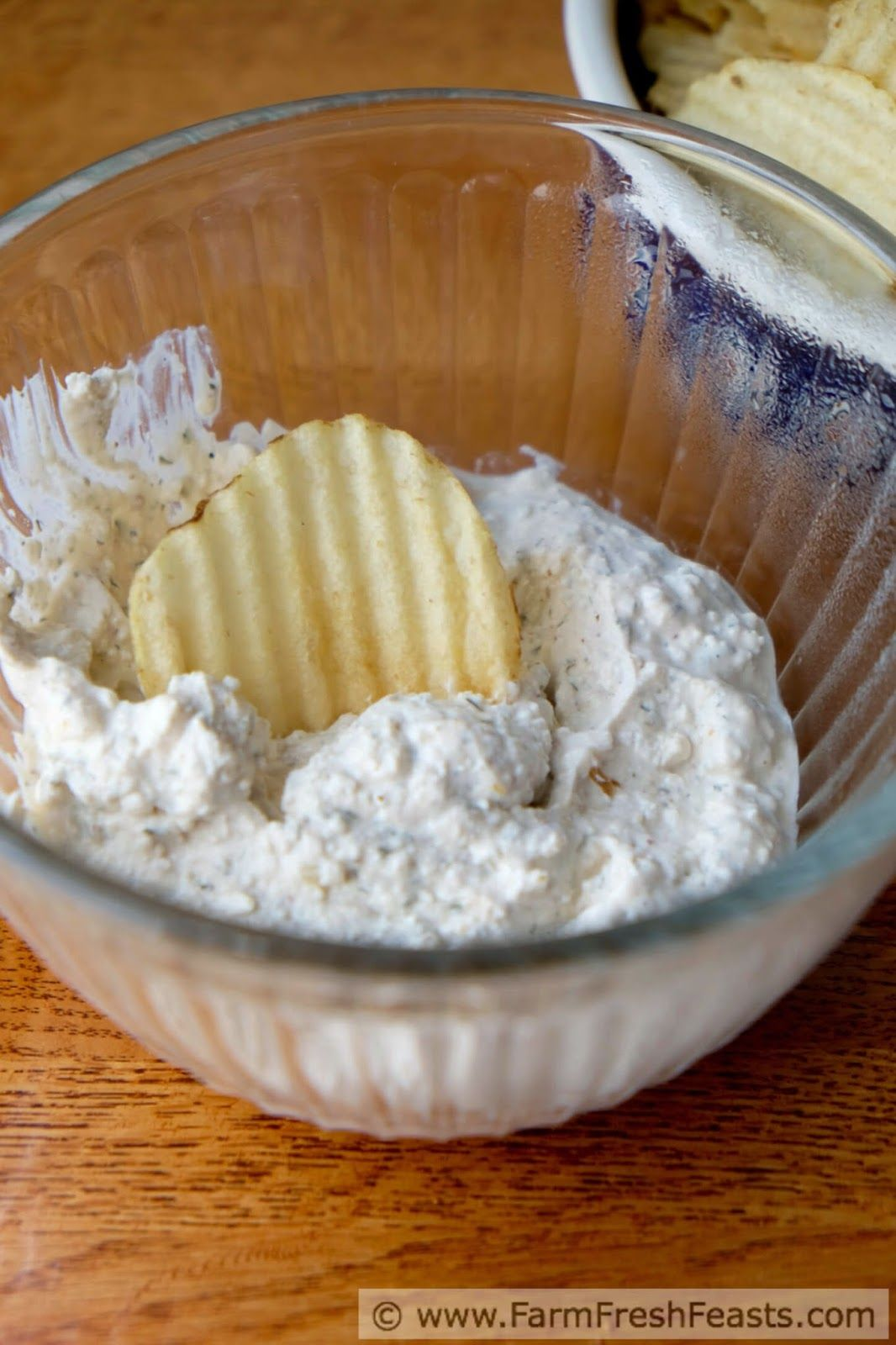 Spiced Cottage Cheese Chip Dip