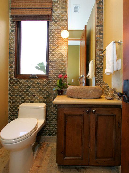 Contemporary Bathroom Earth Tone Accents Design