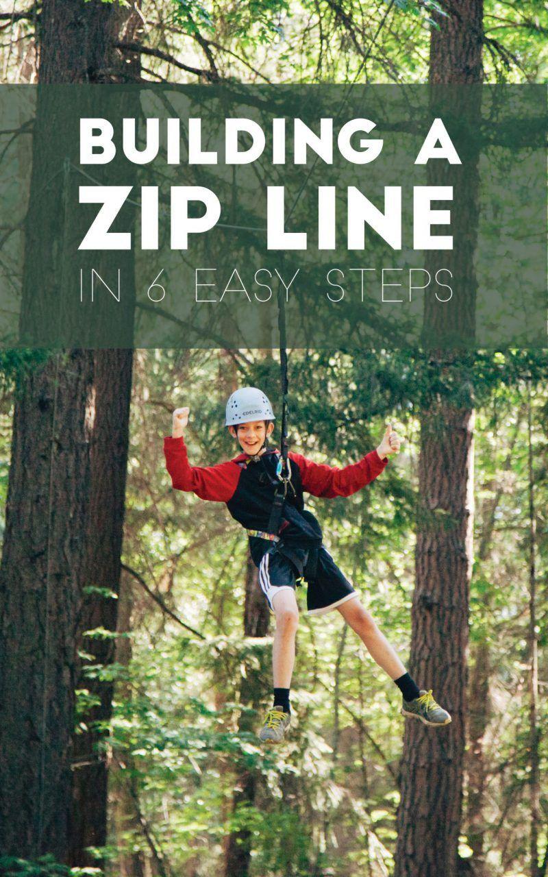 Building a Zip Line in 6 easy steps | Zip line backyard ...