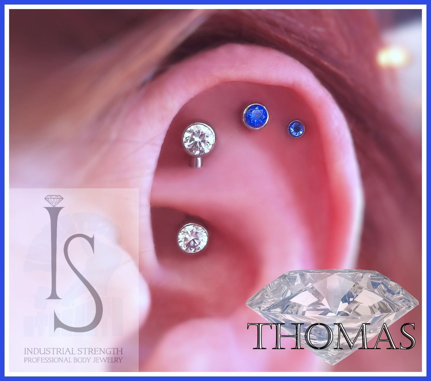 Piercing names in mouth  triple cartilage piercing using rook and fossa placement Jewelry