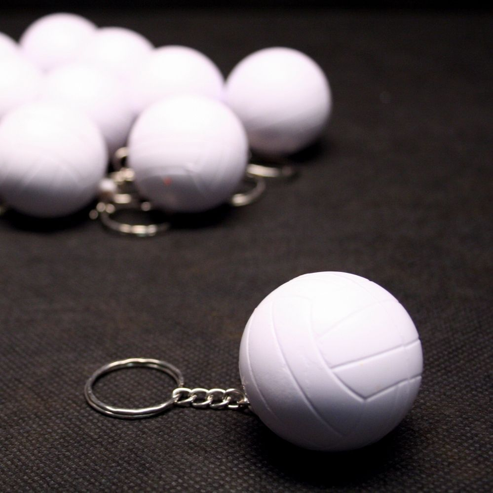 Foam Volleyball Keychains Package Of 12 Leather Keychain Chains For Men Volleyball