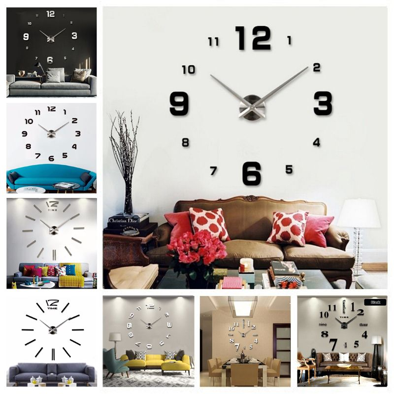 twsyin wall clock stickers for kids room diy home decorations wall