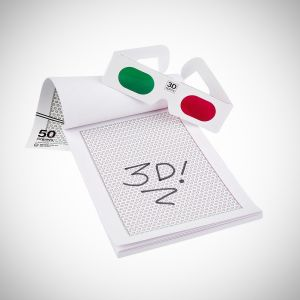3D Drawing Pad - Add another dimension to your kids drawings with this 3D drawing pad. Their pictures will come to life when viewed through the included 3D glasses.   #3Dglasses #drawing #kids #sketching #fun  Visit: http://thestore.com/3d-drawing-pad-1/TSBKWUI4V7
