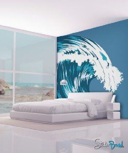 Ocean Wave Wall Mural Decal Wall Decals Uk Vinyl Wall Decals Wall Decals