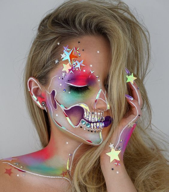 Skull With Jaw Dropped: 2017 JAW DROPPING Halloween Makeup Ideas