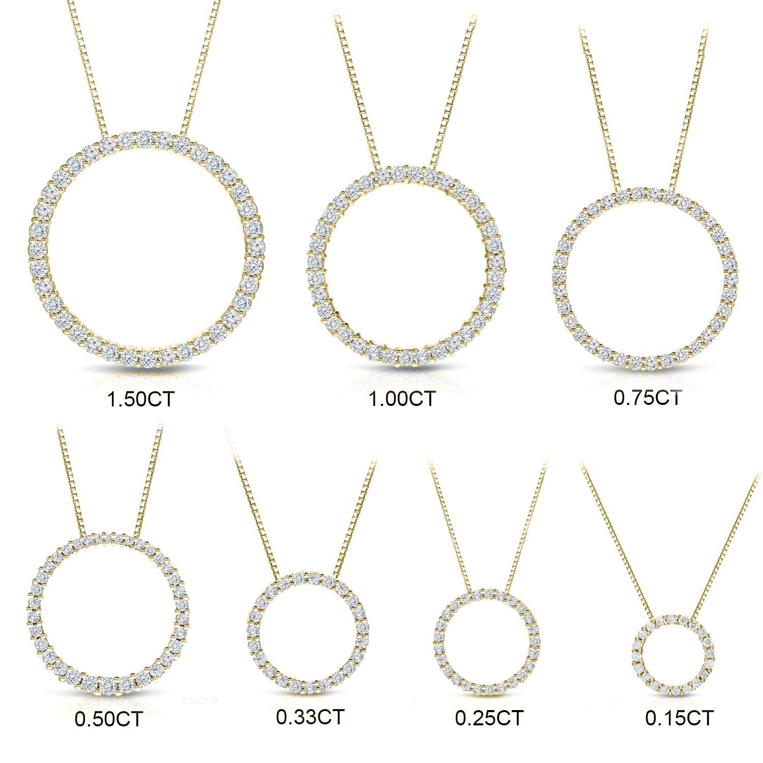 d38d9f3765 Auriya 14k Yellow Gold Diamond Circle Necklace in 2019 | Jewelry ...