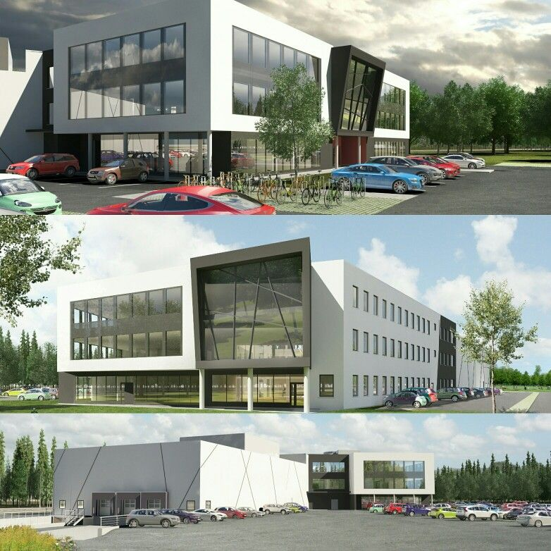 New officebuilding 8500m2 in Norway, Tønsberg. 3d photos