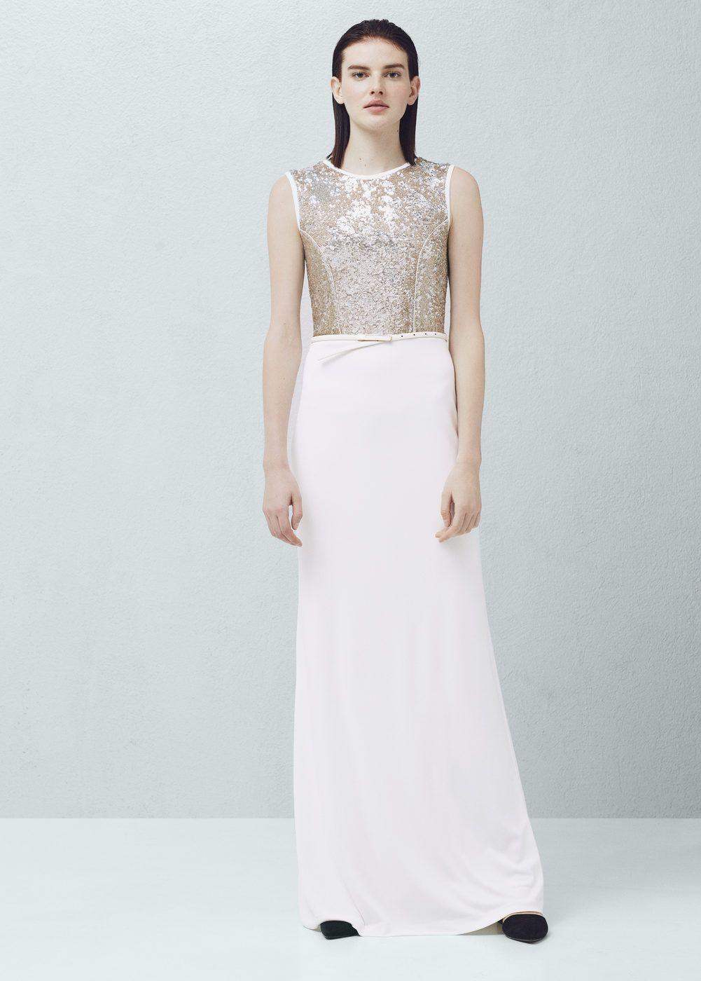 Langes Kleid mit Pailletten | Kleid mit pailletten, Pailletten und ...