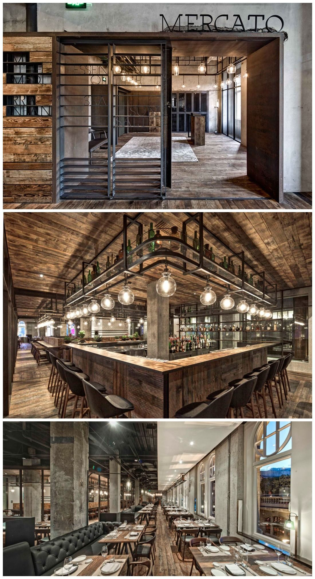 Mercato restaurant interior design interior pinterest for Crear restaurante