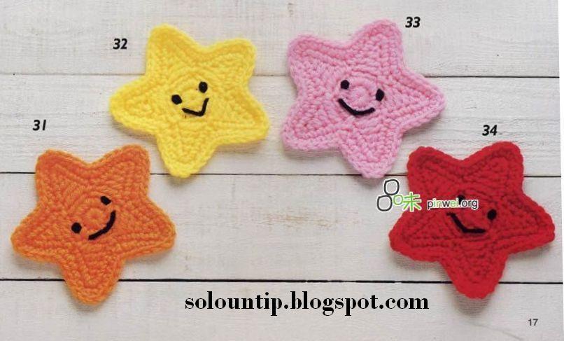 Estrellas a crochet | Solountip.com con patron | Pies descalzos ...