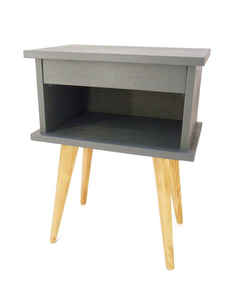 table de chevet ann es 50 grise diy furniture design pinterest table de chevet chevet et. Black Bedroom Furniture Sets. Home Design Ideas