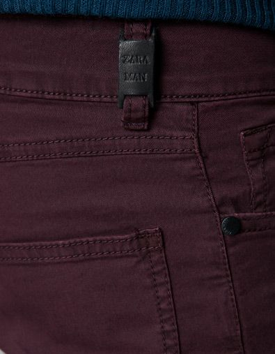 Five Pocket Trousers, Burgundy