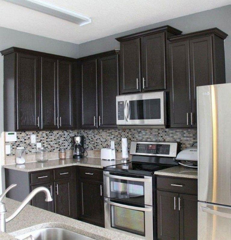 80 beautiful kitchen backsplash decor with dark cabinets grey kitchen walls beautiful on kitchen decor grey cabinets id=37811