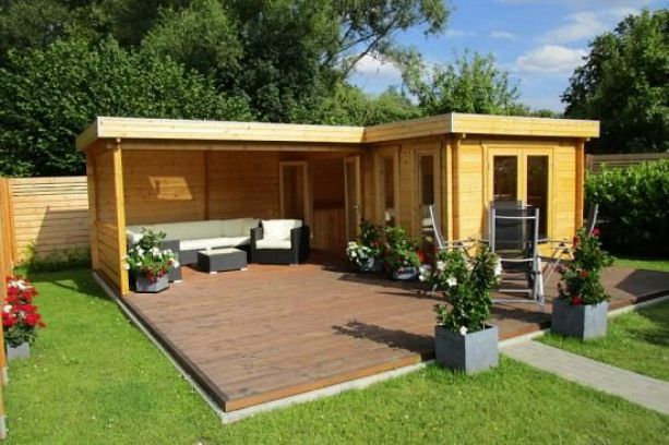 Flachdach Gartenhaus Modell Quinta44 ISO AZ Gartenhaus